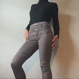 Brown Charlotte Russe Skinny Jeans